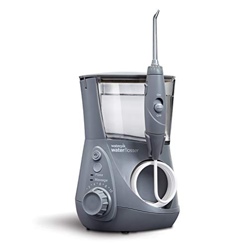 Waterpik WP-667 Water Flosser Electric Dental Countertop Professional Oral Irrigator For Teeth, Aquarius, Modern Gray