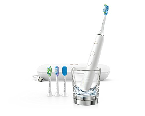 Philips Sonicare DiamondClean Smart 9500 Rechargeable Electric Toothbrush, White, HX9924/01