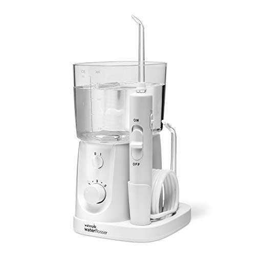 Waterpik Water Flosser For Teeth, Portable Electric Compact For Travel and Home - Nano Plus, WP-320, White