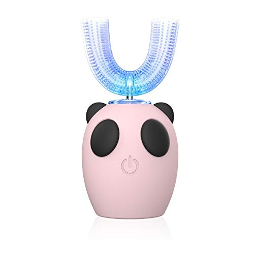 Ultrasonic Electric Toothbrush,New Model Ultrasonic Kids Electric Toothbrush,U Type Whitening Toothbrush,IPX7 Waterproof ,4 Gear Speed,7-15 Years (Color-Pink)