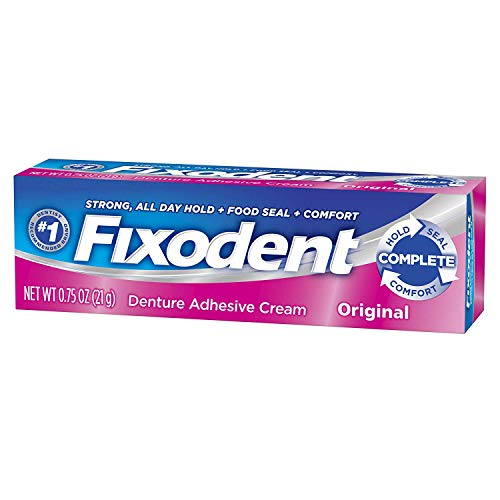 Fixodent Denture Adhesive Cream Original 0.75 oz (Pack of 12)