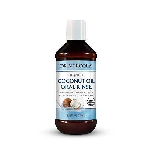 Dr. Mercola, Certified Organic Coconut Oil Oral Rinse, 1 Bottle, 8.12 fl oz (240 mL), Ayurvedic Oil Pulling, Non GMO, Soy-Free, Gluten Free