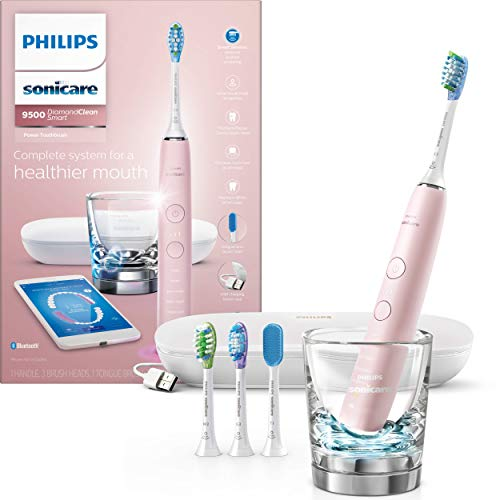 Philips Sonicare DiamondClean Smart 9500 Rechargeable Electric Toothbrush, Pink HX9924/21