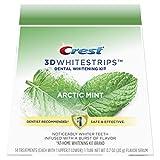 Crest 3D Whitestrips Arctic Mint, Teeth Whitening Kit, 28 Individual Strips (14 Treatments) + 1 Tube of Flavor Serum