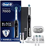 Oral-B Pro 7000 SmartSeries Black Electronic Power Rechargeable Toothbrush with Bluetooth Connectivity Powered by Braun with 2 CrossAction Replacement Brush Heads