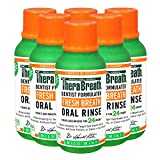 TheraBreath Fresh Breath Oral Rinse, Mild Mint, 3 Ounce Bottle, Pack of 6