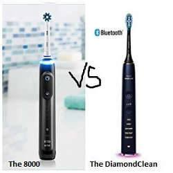 Oral-B Genius Pro 8000 vs Philips Sonicare Diamondclean