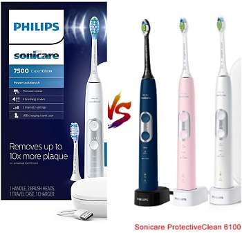 Sonicare Protectiveclean 6100 vs ExpertClean 7300/7500