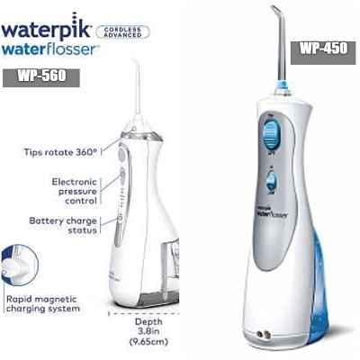 Key Similarities between Waterpik WP-560 (Cordless Advanced) VS WP-450 (Cordless Plus)