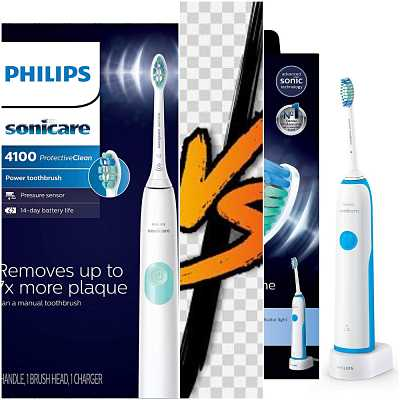 Philips Sonicare ProtectiveClean 4100 vs DailyClean 2100.